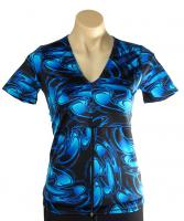 Electric-Blue-Short-Sleeve-Top